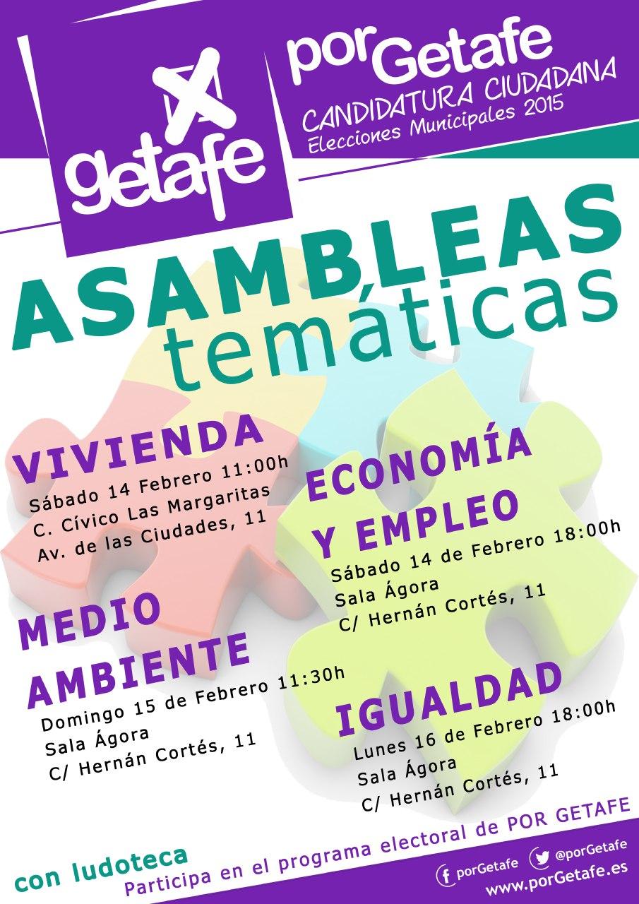 Asambleas temáticas de «Por Getafe»
