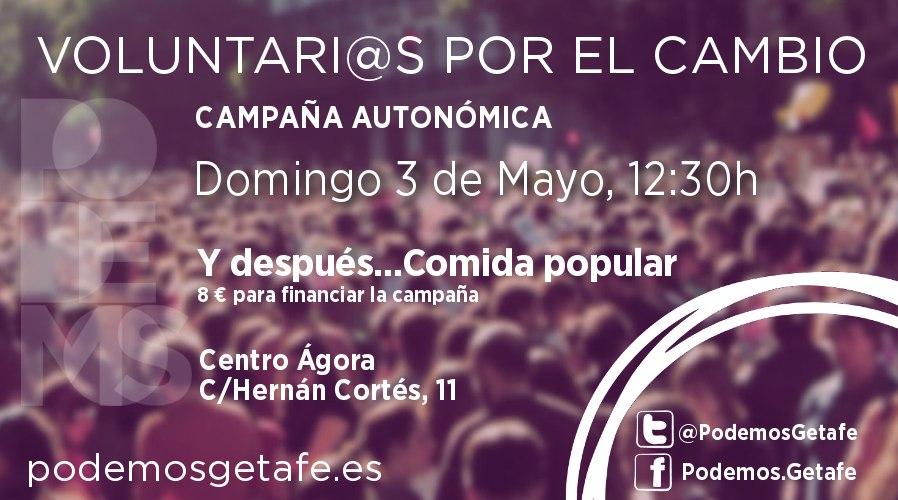 Este domingo asamblea y comida Podemos