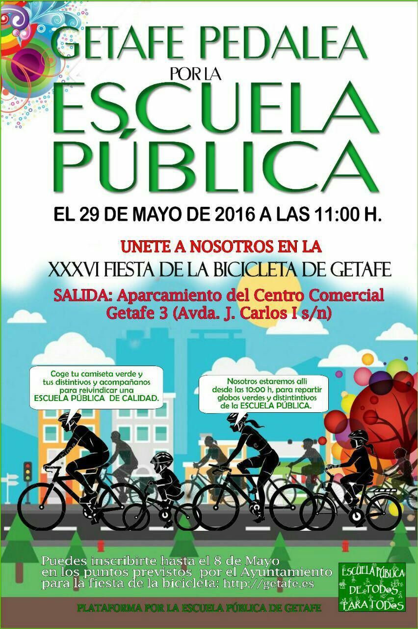 Getafe pedalea por la escuela pública