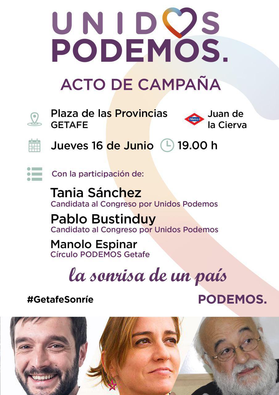 Unid@s Podemos. Acto de campaña