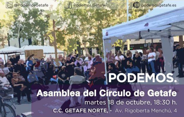 Nueva Asamblea Círculo de Getafe: 18 octubre