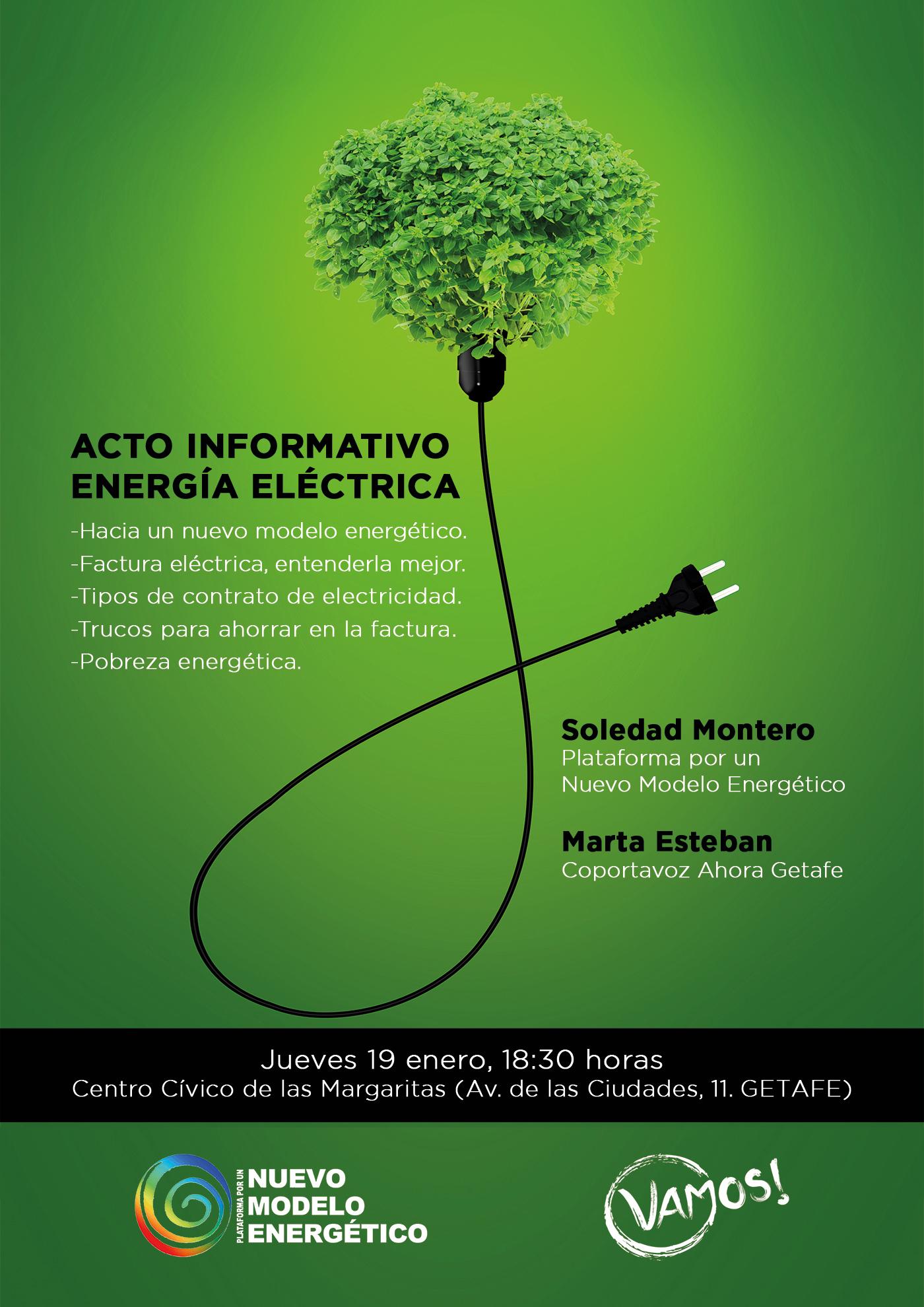 Cartlel charla pobreza energética