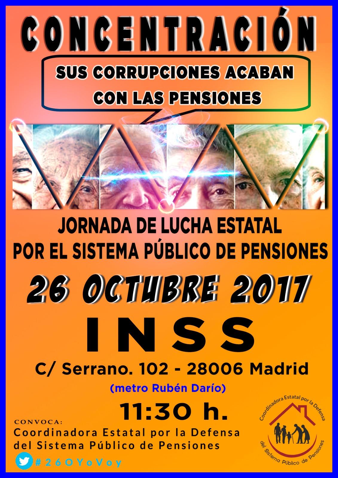 Movilización en defensa de las pensiones públicas