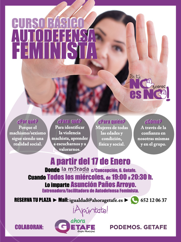 Ahora Getafe y Podemos Getafe organizan un curso gratuito de autodefensa feminista