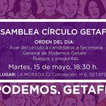 Asamblea Círculo de Getafe: Martes, 15 de mayo