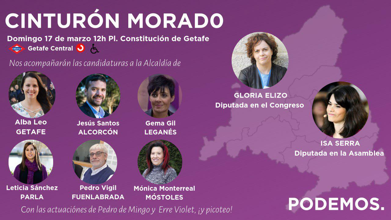 PODEMOS reúne a los candidatos de la zona sur de Madrid en Getafe