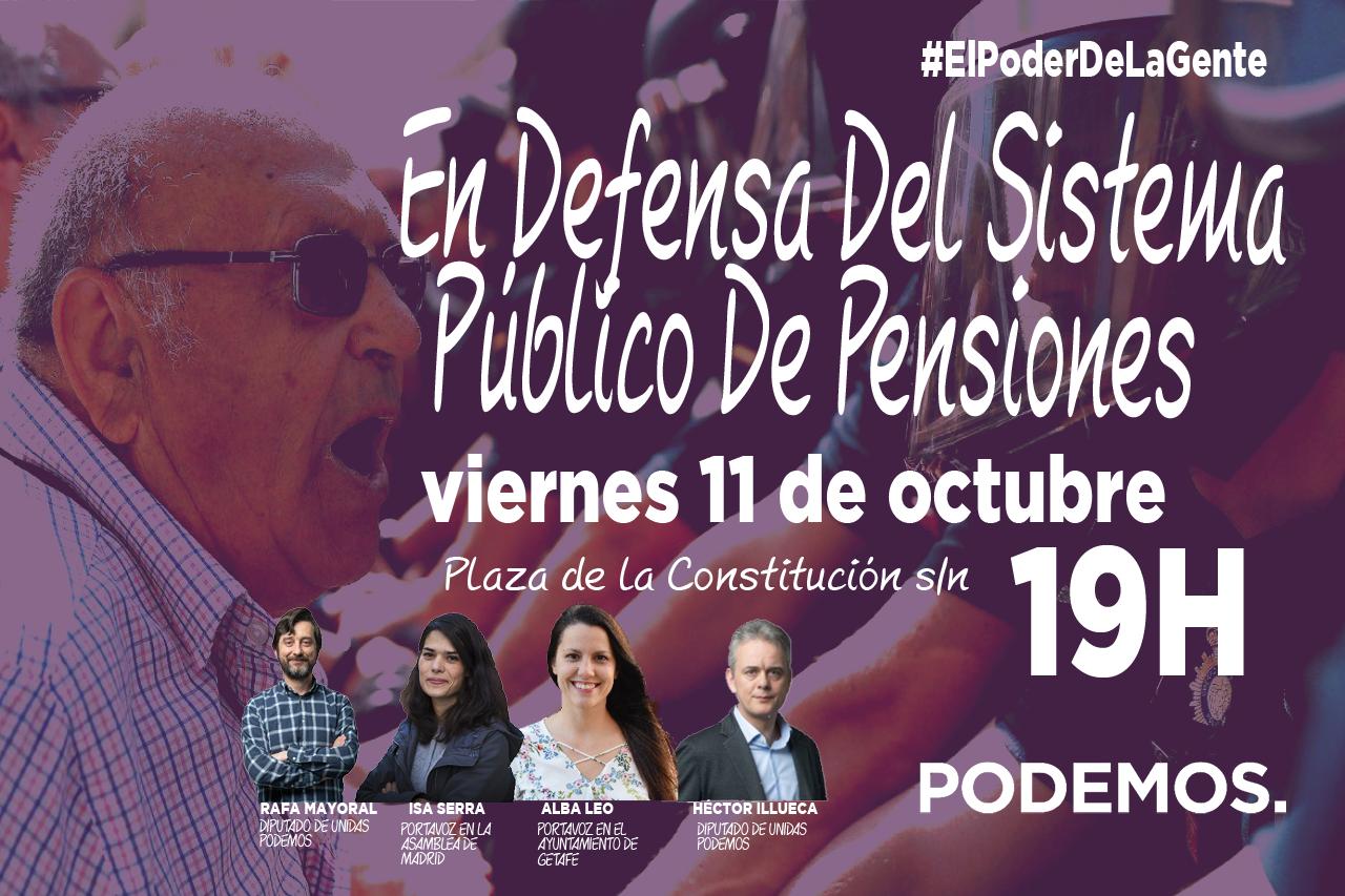 Rafa Mayoral, Isa Serra y Héctor Illueca estarán este viernes en Getafe