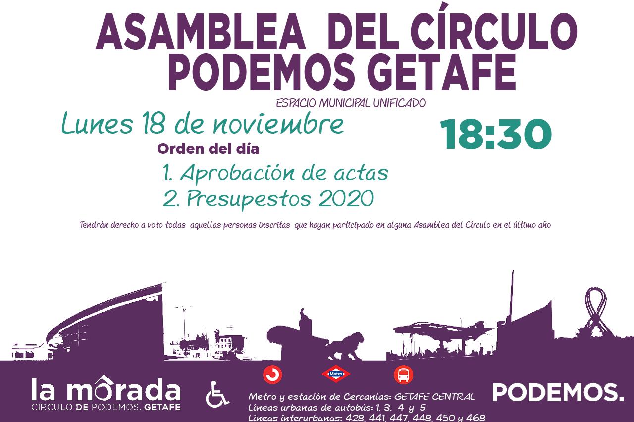 Convocatoria de la Asamblea de Círculo de Podemos Getafe