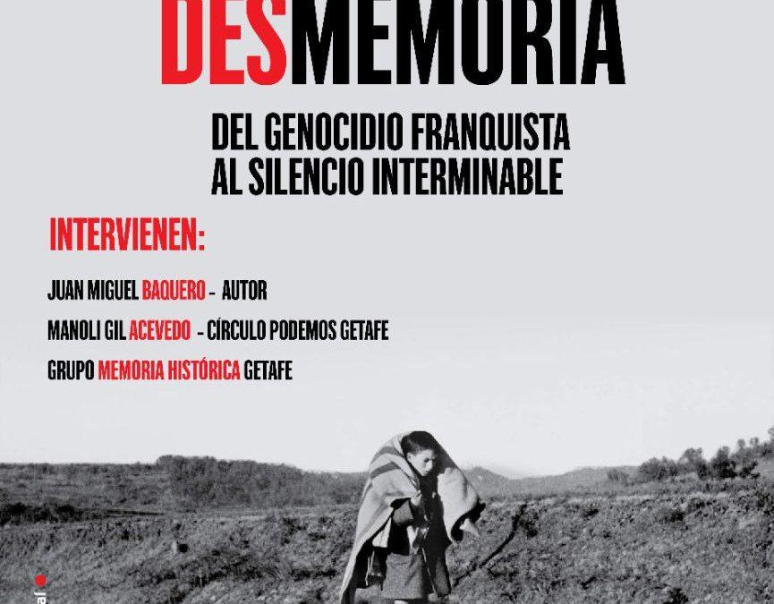 'El país de la desmemoria' se presenta en Getafe este viernes