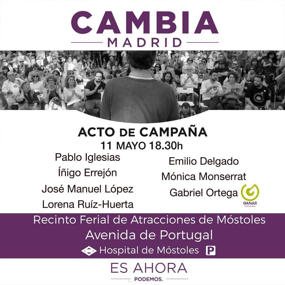 Acto campaña CAMBIA MADRID