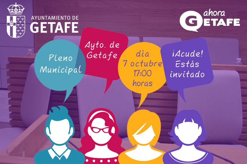 Pleno de octubre. Ayuntamiento de Getafe