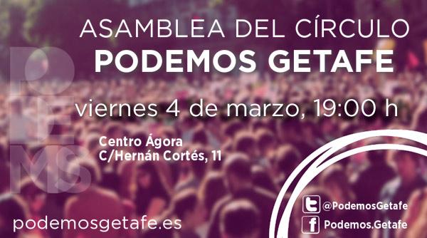 Asamblea Círculo de Getafe 4 marzo 2016