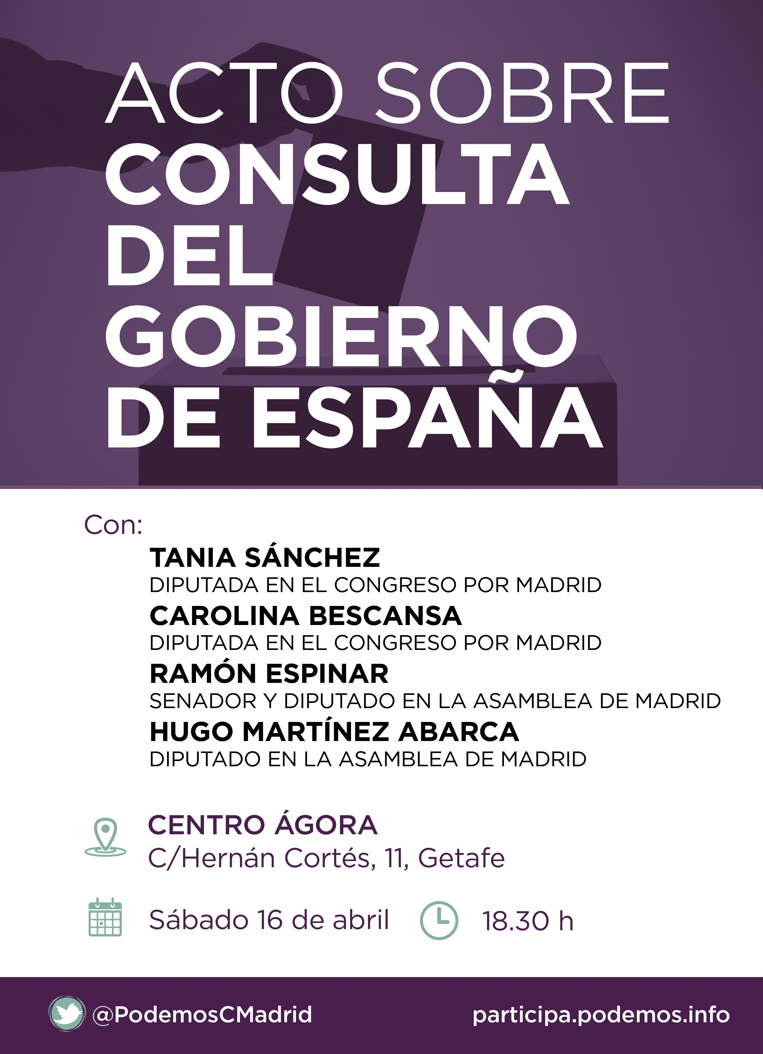 Acto sobre la CONSULTA DEL GOBIERNO DE ESPAÑA