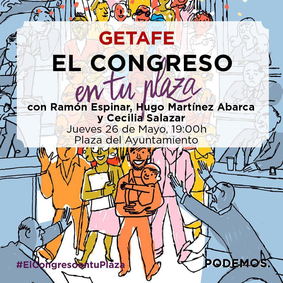 El Congreso en tu plaza: Ramón Espinar, Hugo Martínez y Cecilia Salazar en la plaza de tu ayuntamiento
