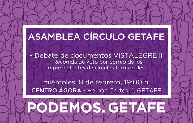 Debate y asamblea círculo de Getafe, 8 de febrero