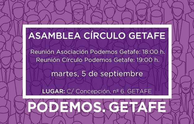 Asamblea de la Asociación y del Círculo Podemos Getafe: 5 septiembre