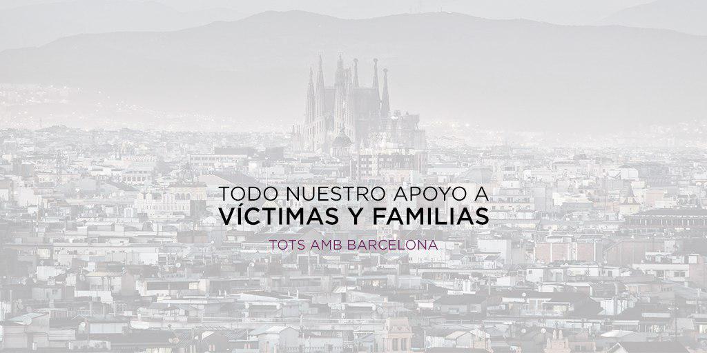 Nuestra solidaridad con las víctimas y sus familiares del atentado de Barcelona