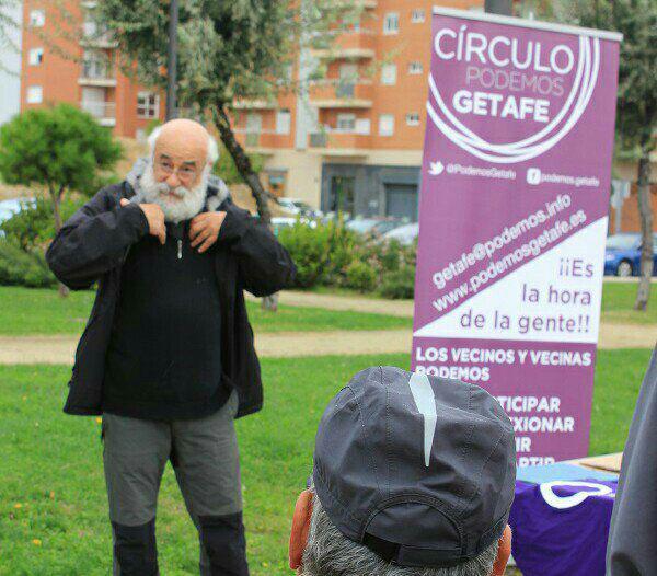 Nos despedimos de Manolo Espinar, activista y fundador del Círculo de Podemos Getafe