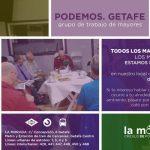 Tertulia de mayores en la Morada del Círculo de Podemos Getafe