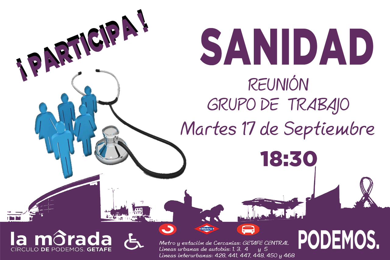 Convocada la reunión del grupo de trabajo de Sanidad en septiembre