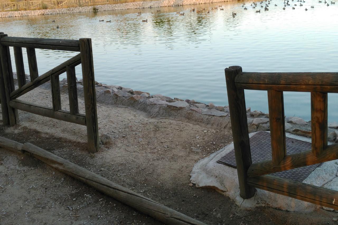 Podemos solicita que se reponga el vallado de los lagos del Parque Alhóndiga Sector III