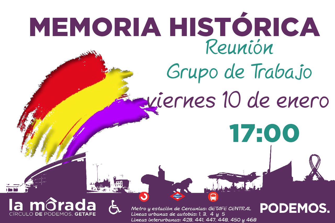 Reunión del Grupo de Trabajo de Memoria Histórica