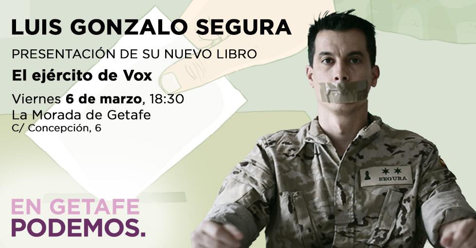 El exteniente Luis Gonzalo Segura presenta su nuevo libro en Getafe