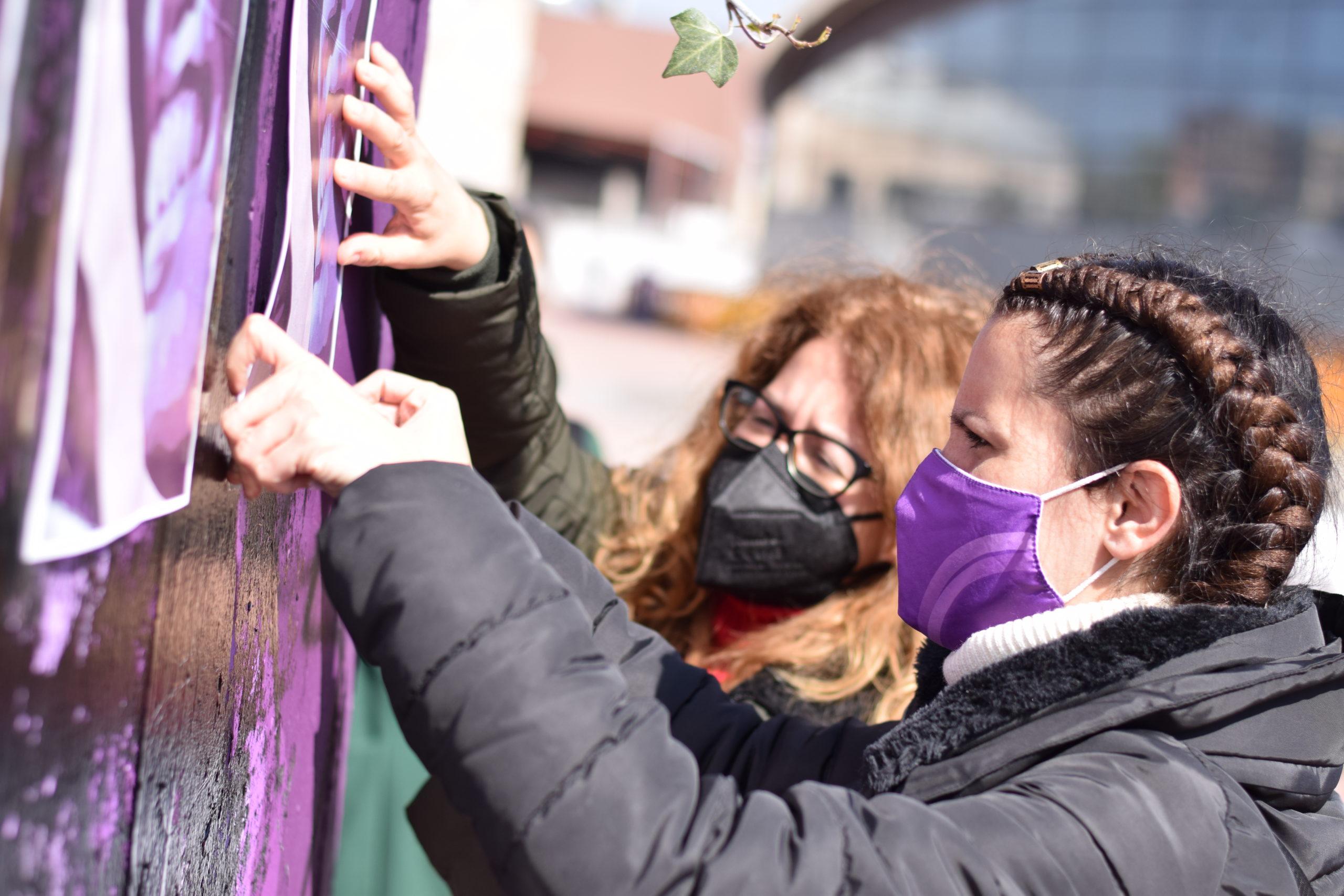 Podemos Getafe condena el ataque al nuevo mural feminista de Getafe