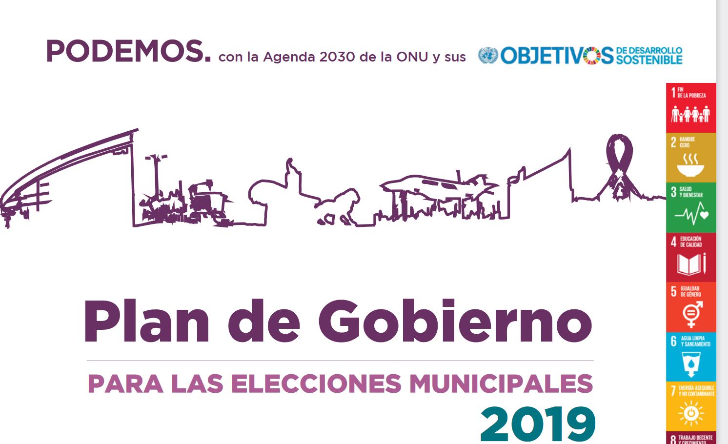 Plan de Gobierno para las elecciones municipales de 2019